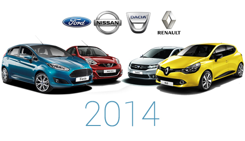 Top Rent A Car - автопарк 2014