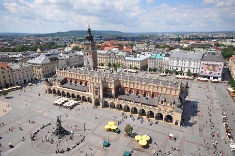 Главния търговски площад (Rynek Glowny) Снимка: Wikipedia