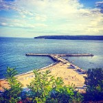 гледка от алеята на славата във Варна