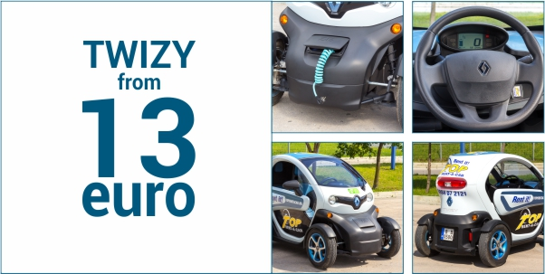 Renault Twizy from Top Rent A Car - prices from 13 euro