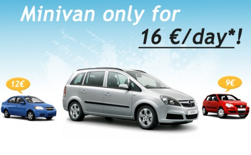 Minivan rental deal in Bulgaria