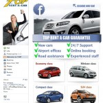 Facebook page of Top Rent A Car
