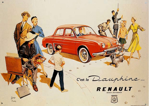 old poster of Renault