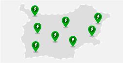 Карта със станции за зареждане