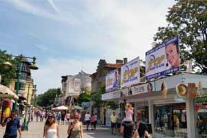 Central area in Burgas