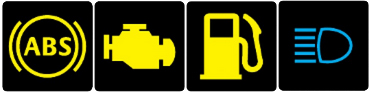Yellow warning lights