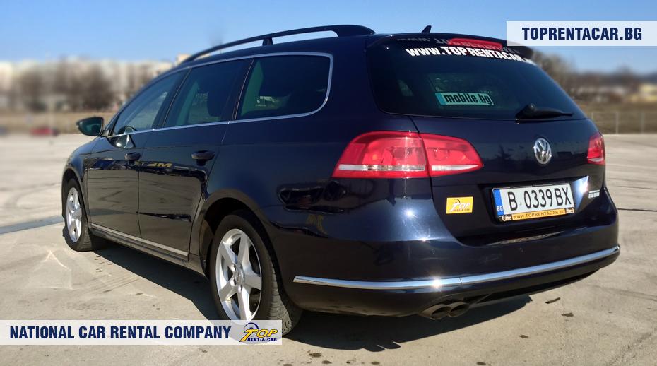 VW Passat estate - back view