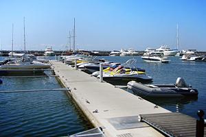 Yachts in Sunny beach