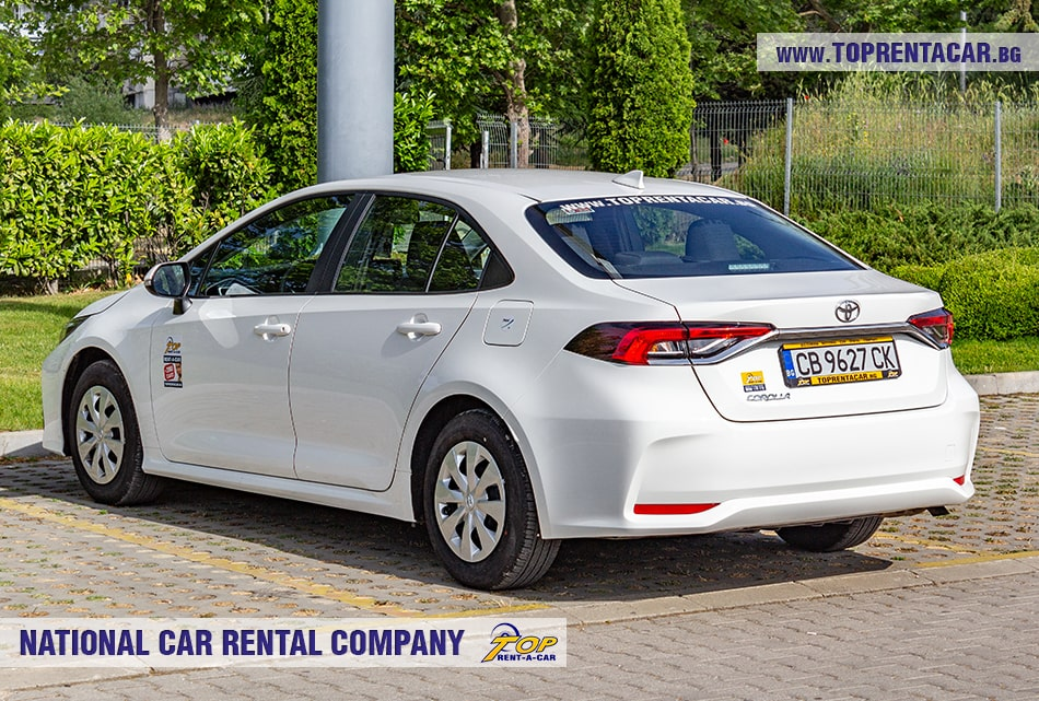 Toyota Corolla car rental from Top Rent A Car
