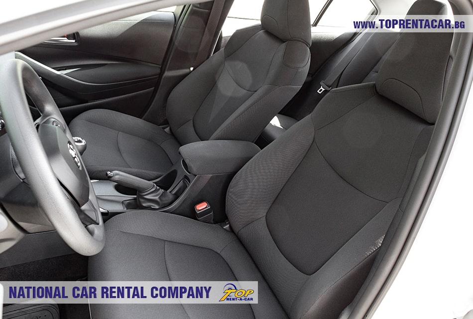 Toyota Corolla front seats