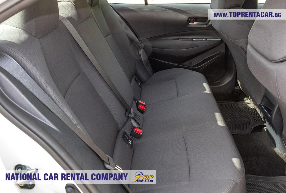 Toyota Corolla back seats