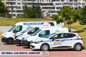Cargo van rentals in Sofia