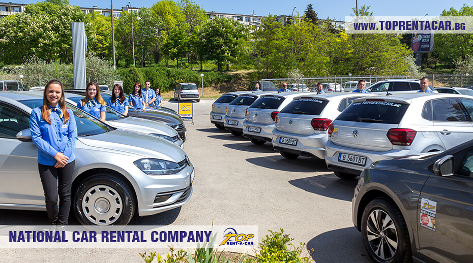 VW Polo and the Top Rent A Car employees