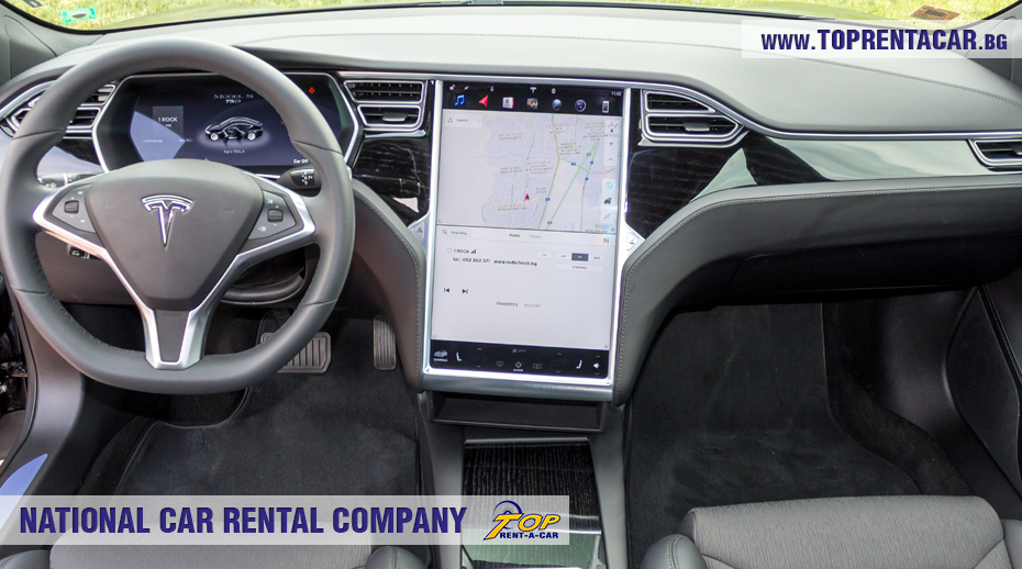 Tesla for rent from Top Rent A Car
