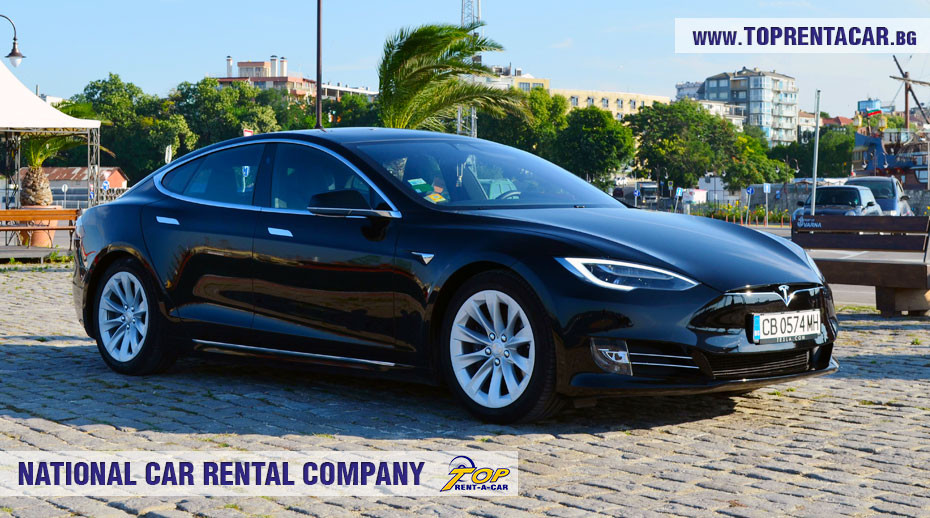 Tesla Model S 75D for hire from Top Rent A Car