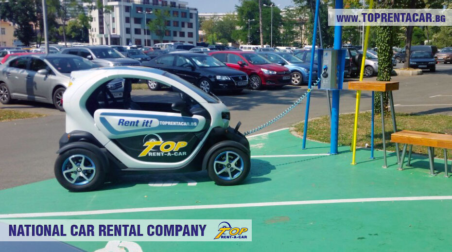 Charging of Renault Twizy from Top Rent A Car