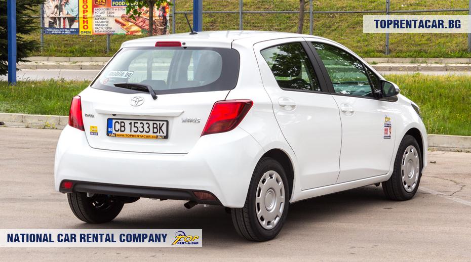 Toyota Yaris - изглед отзад