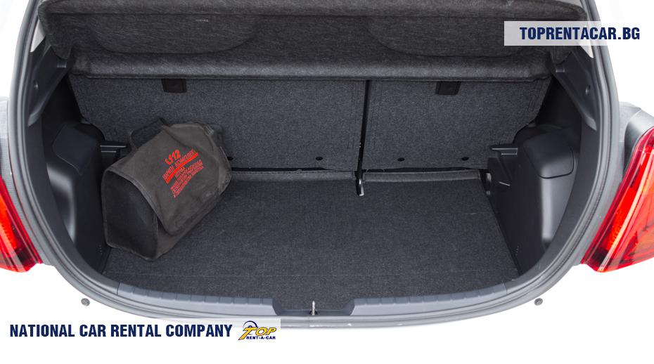Toyota Yaris - изглед на багажника
