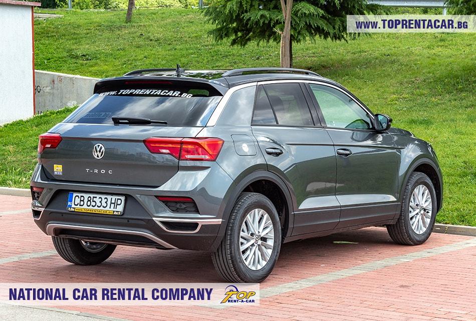 VW T-Roc 2019 изглед отзад