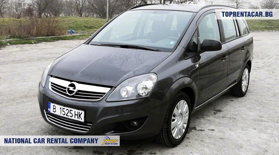 Opel Zafira - front view