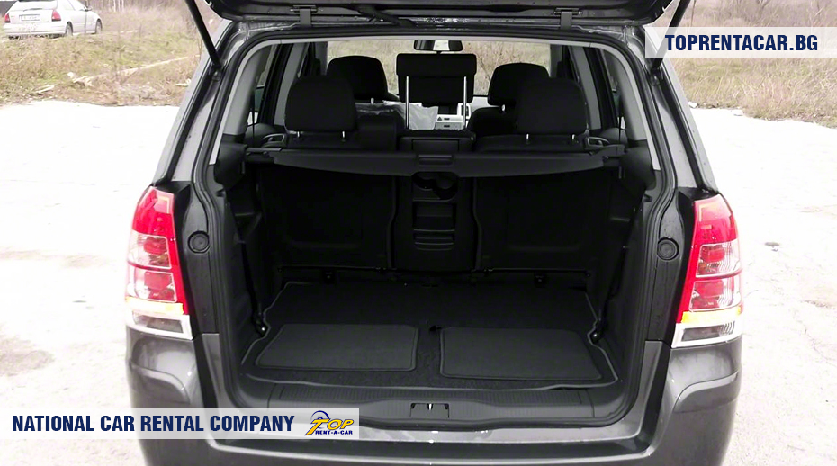 Opel Zafira - trunk view