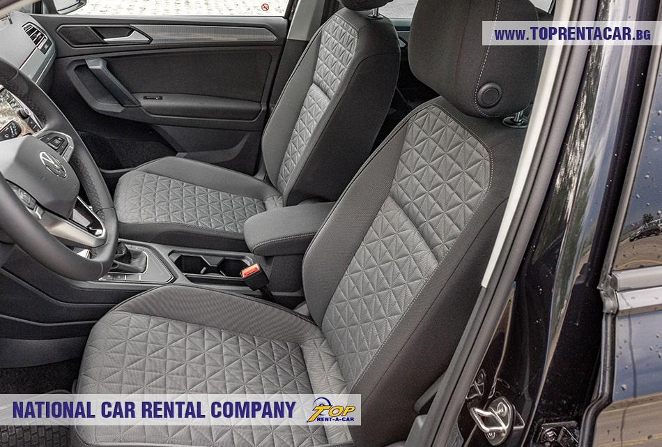 VW Tiguan front seats