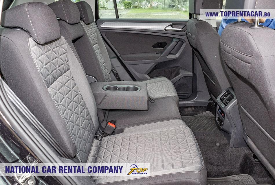 VW Tiguan rear seats