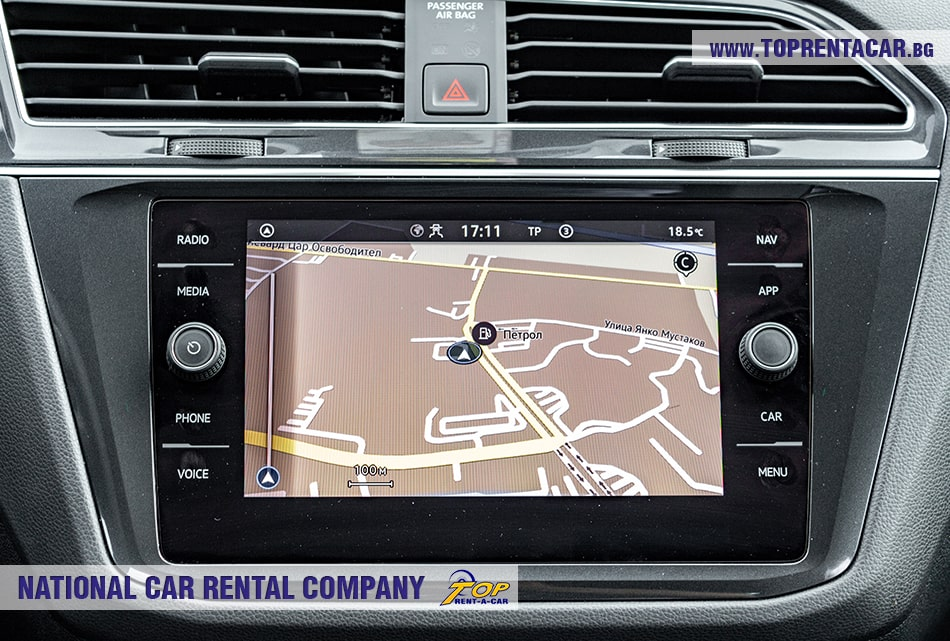 VW Tiguan with built-in navigation