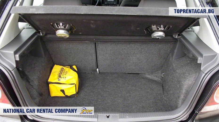 VW Polo - изглед на багажника