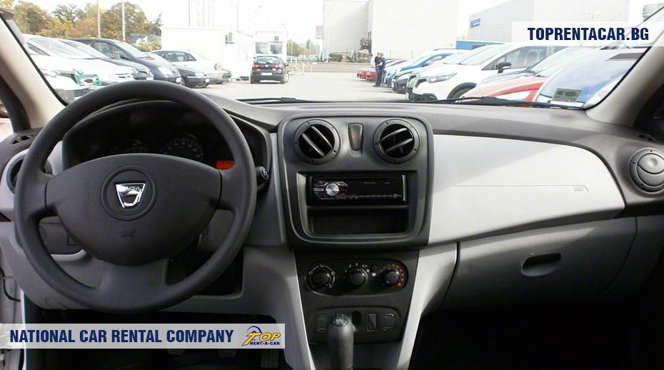 Dacia Sandero - изглед отвътре