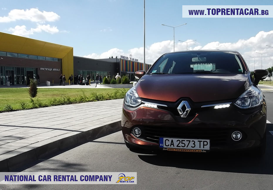 Renault Clio 4 in front of Varna Airport