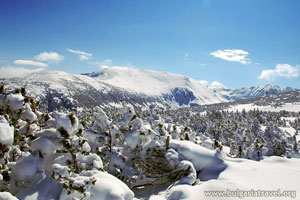 Winter landscape in Borovets